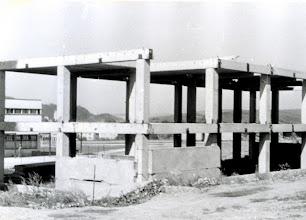 Photo: Výstavba centra kultúry na Medvedzí v roku 1985.