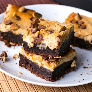 Chocolate Peanut Butter Cheesecake Brownies.