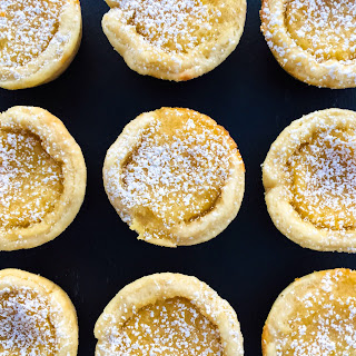 Mini Lemon Chess Pies.