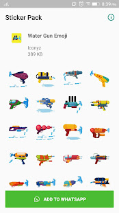 Water Gun Emoji 1