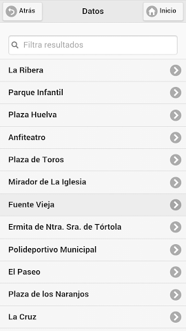 android Callejero Virtual de Hinojales Screenshot 4
