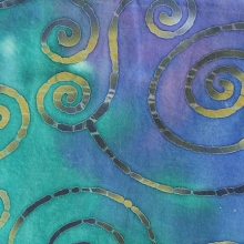 Photo: 100% cotton batik, Spirals