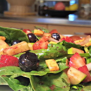 Spinach Salad with Blackberry Vinaigrette