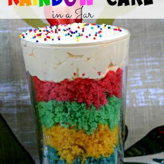 Rainbow Cake in a Jar