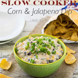 Slow Cooker Corn and Jalapeño Dip
