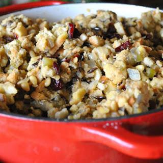Wild Rice, Cranberry, and Pine Nut Stuffing [Vegan]