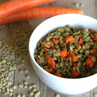 Roasted Carrot, Lentil, & Sunflower Salad