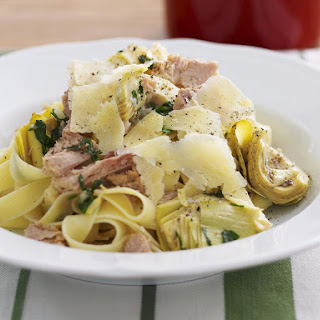 Fettuccine with Tuna and Artichokes.