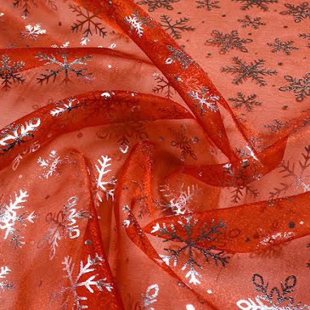Snöstjärna Kristallorganza - röd