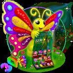 3D Cute Buttefly Theme