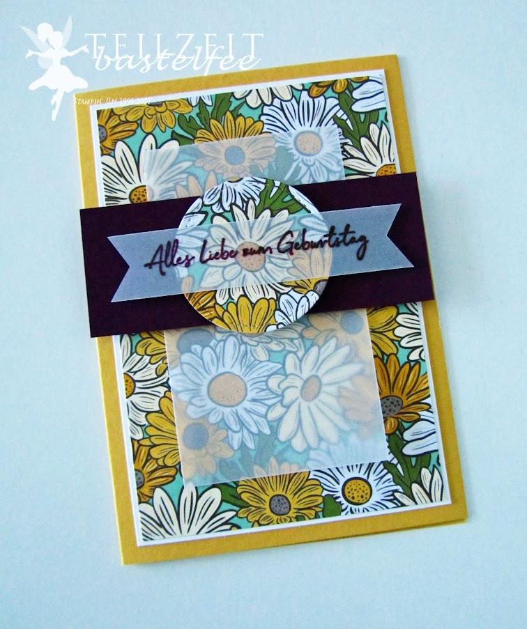 Stampin' Up! - Inkspire_me, Sketch Challenge, Birthday, Geburtstag, Flowers, Blumen, Alles Gute zum Geburtstag