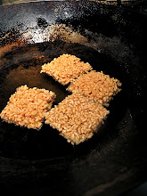 Photo: the rice squares browning