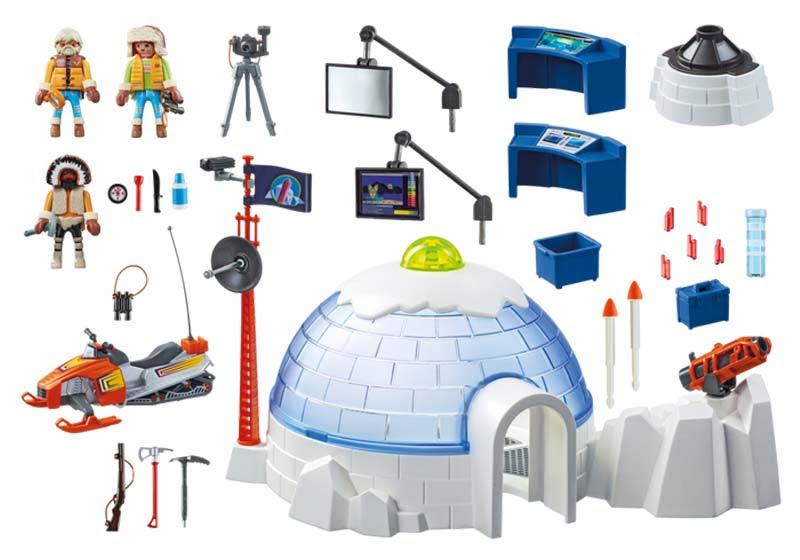 Contenido real de Playmobil® 9055 Cuartel Polar de Exploradores
