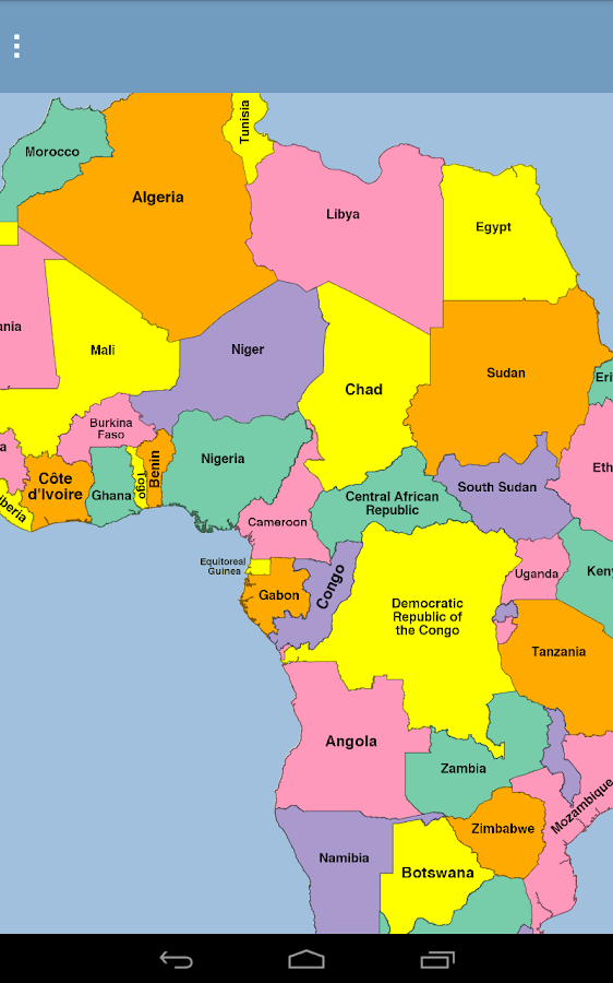 Africa Map Puzzle Android Apps On Google Play - Maps of africa