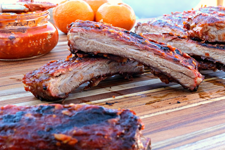 Sugar Free Orange BBQ Sauce and Grilled Ribs!