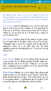 Yoruba Liturgy (Church of Nigeria, Anglican Comm) - náhled