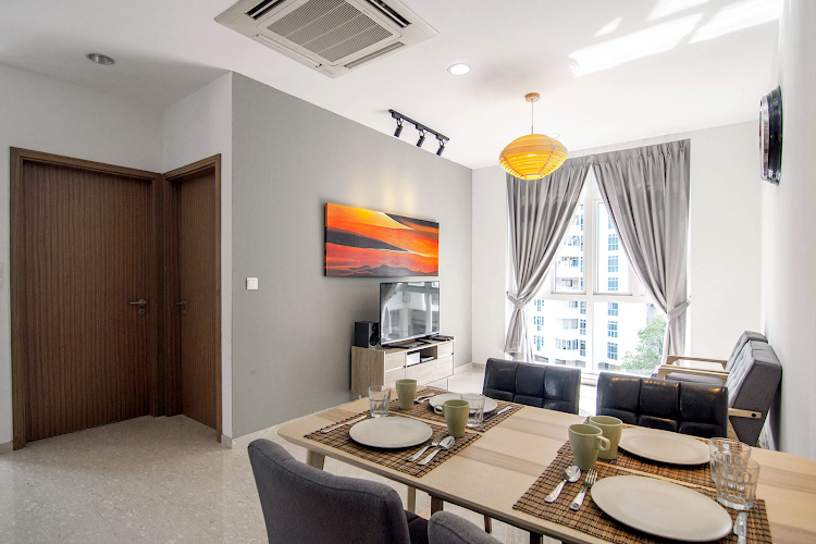 Dining space at Ava Road Apartments, Balestier