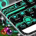 Neon Green Tech GO Theme icon