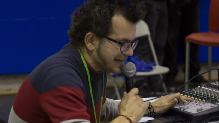 Eduardo Alías, el speaker de Unicaja Costa de Almería.