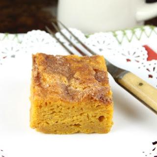 Pumpkin Snickerdoodle Snack Cake.