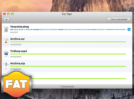 Fat Pipe Downloader for Mac
