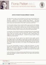 Photo: 4.15.15 Street harassment statement in Australia's Parliament