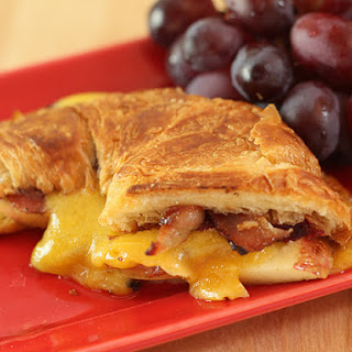Apple, Pancetta and Sharp Cheddar Grilled Croissant for National Grilled Cheese Month