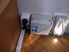 Photo: Detalle del enchufe de la fuente.