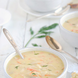 Avgolemono{Greek Lemon Chicken Soup}