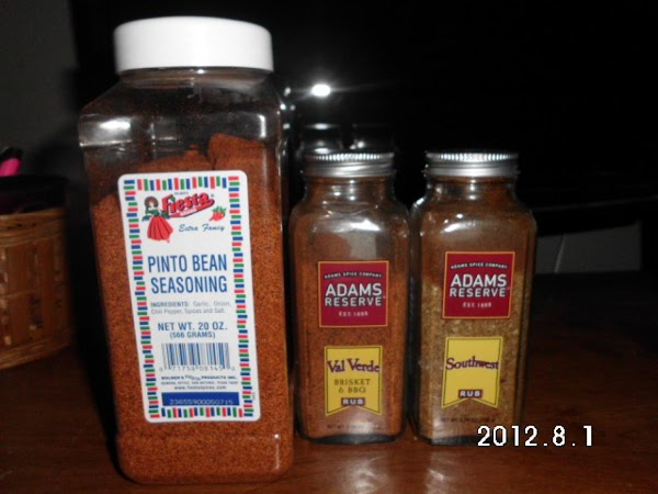 These are the TWO sodium free and the Pinto bean low sodium seasoning I...
