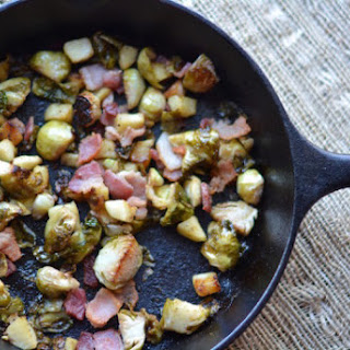 Brussel Sprouts with Bacon and Apple