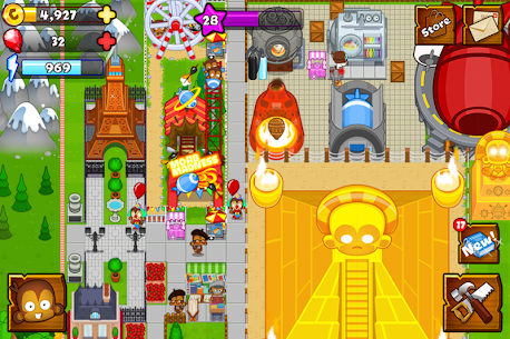 Bloons Monkey City Apk + Mod (Gold) for Android 3