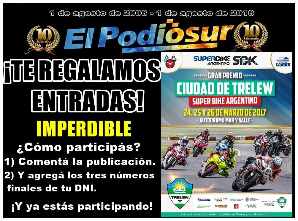 Todo el programa para vivir el Superbike Argentino en Trelew