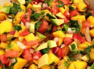 Mouthwatering Strawberry, Avocado and Mango Salsa