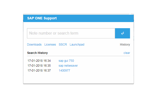 SAP Notes and Support