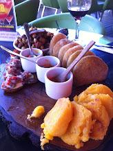 Photo: Plaza de Foch, New Town, Quito.  Our lunch smorgasbord!