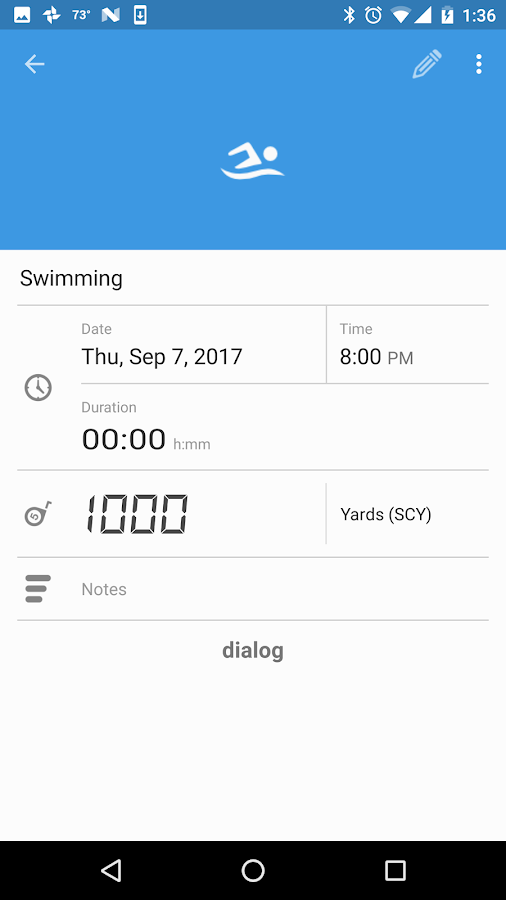 SwimWiz Fitness Log- screenshot