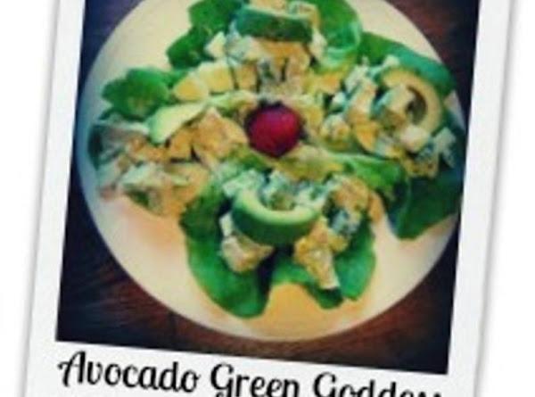 Avocado Green Goddess Spring Chicken Salad Recipe