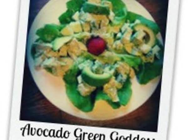 Avocado Green Goddess Spring Chicken Salad