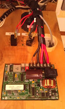 Photo: bringing all the PV system wires together at the charge controller