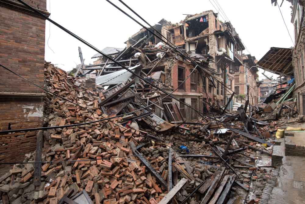 Image result for  people in an earthquakes