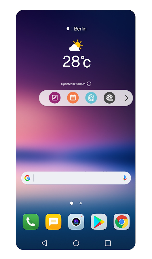 Floating Bar LG V30- screenshot