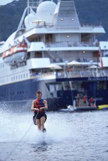 Seadream-waterskiing.jpg - Waterskiing is just one of the many activities when the waterdeck comes down on a SeaDream cruise.