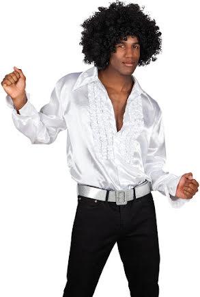 Discoskjorta, vit