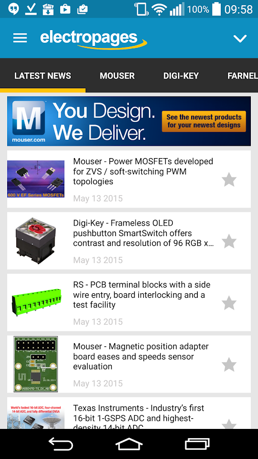 Electronics News- screenshot