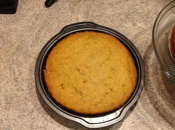"""Spray three 9"""" cake pans. Pour into pans and bake for 45 minutes or..."""