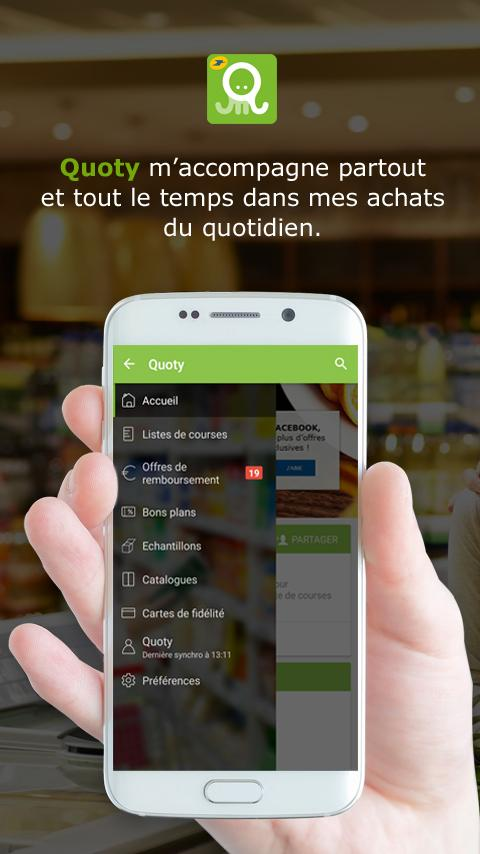 Quoty - Liste Course et Promos – Capture d'écran