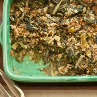 Greens and Goat Cheese Gratin