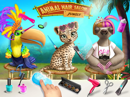 Jungle Animal Hair Salon - Styling Game for Kids android2mod screenshots 10