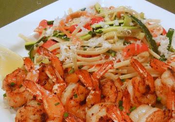 Summertime Lemony Linguine With Zesty Shrimp Recipe
